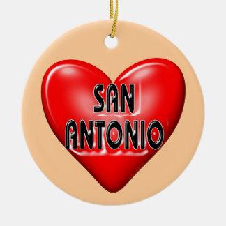 I Love San Antonio Christmas Tree Ornament