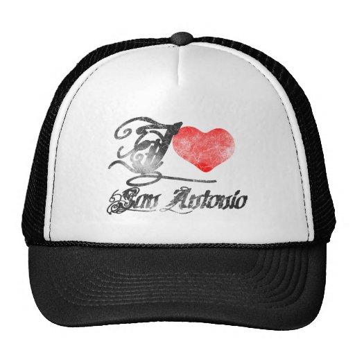 I Love San Antonio Trucker Hats