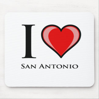 I Love San Antonio Mouse Pad