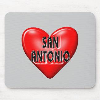 I Love San Antonio Mouse Pads
