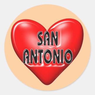 I Love San Antonio Round Sticker
