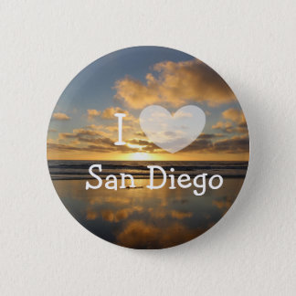 I Love San Diego California Button