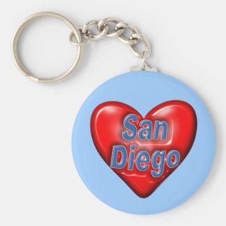 I Love San Diego Key Ring