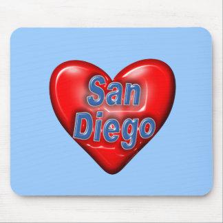 I Love San Diego Mousepads