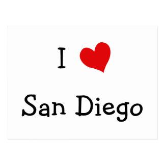 I Love San Diego Postcard