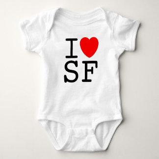 I Love San Francisco Baby Bodysuit