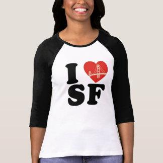 I love san francisco bridge heart t shirt