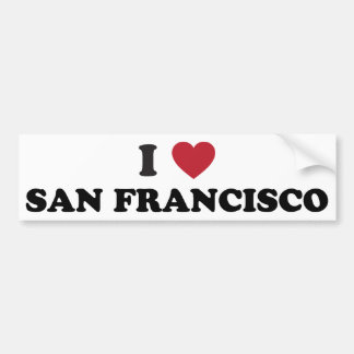I Love San Francisco Bumper Sticker