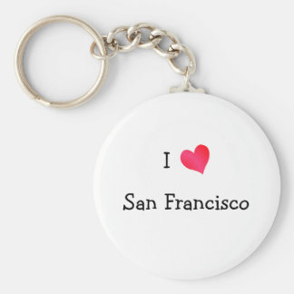 I Love San Francisco Key Ring