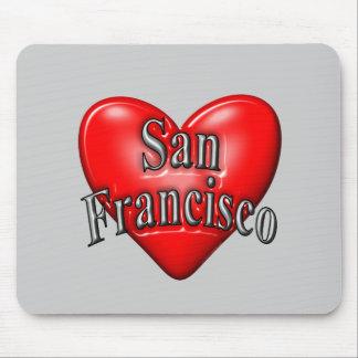 I Love San Francisco Mouse Pads