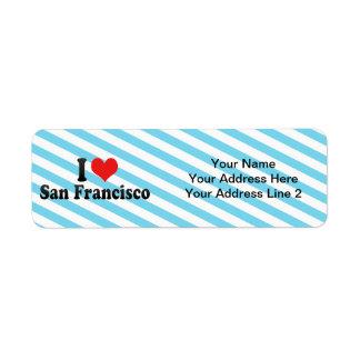 I Love San Francisco Return Address Label