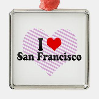 I Love San Francisco, United States Metal Ornament