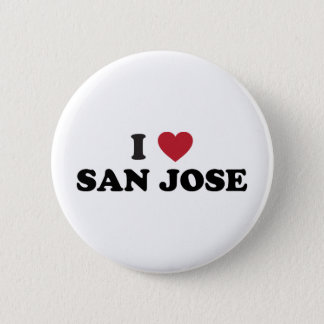 I Love San Jose 6 Cm Round Badge