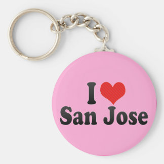 I Love San Jose Key Ring