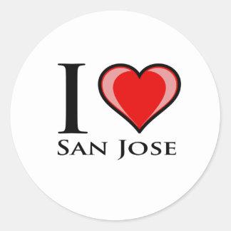 I Love San Jose Round Sticker