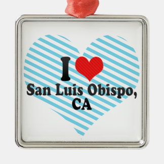 I Love San Luis Obispo,+CA Metal Ornament