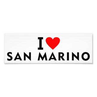 I love San Marino country like heart travel touris Photo Print