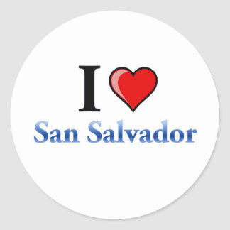 I Love San Salvador Round Stickers