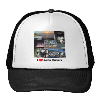 I Love Santa Barbara Hats