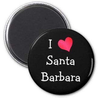 I Love Santa Barbara 6 Cm Round Magnet
