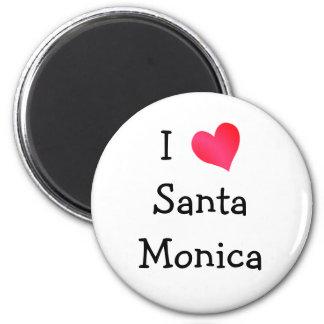 I Love Santa Monica 6 Cm Round Magnet