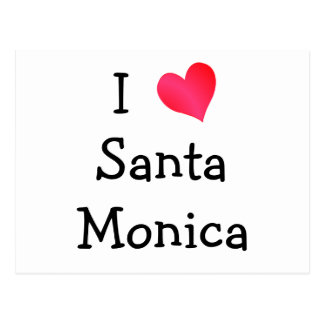 I Love Santa Monica Postcard