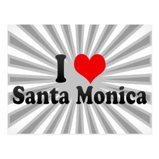 I Love Santa Monica, United States Postcard
