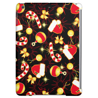 I love Santa seamless pattern black.ai iPad Air Cover