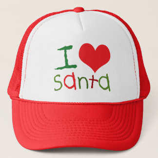 I Love Santa Trucker Hat