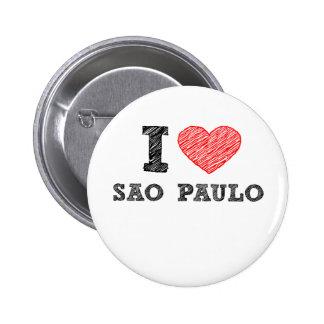 I Love Sao Paulo Button