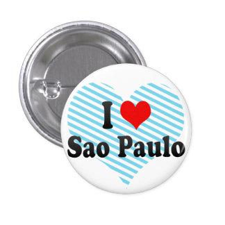 I Love Sao Paulo Brazil Button
