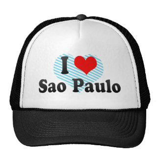 I Love Sao Paulo, Brazil Mesh Hat
