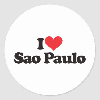 I Love Sao Paulo Classic Round Sticker
