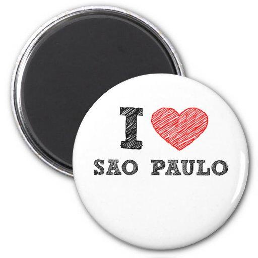 I Love Sao Paulo Refrigerator Magnet