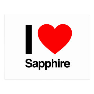 i love sapphire postcard