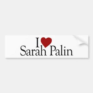 I Love Sarah Palin (McCain Palin 2008) Bumper Sticker