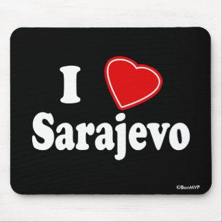 I Love Sarajevo Mouse Pad