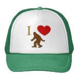I Love Sasquatch Mesh Hats