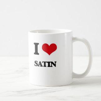 I Love Satin Coffee Mug