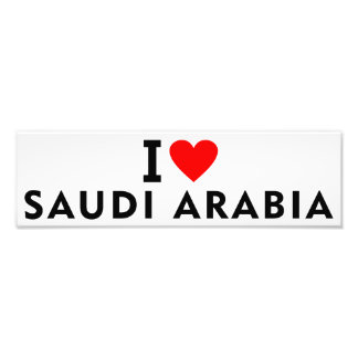 I love Saudi Arabia country like heart travel tour Photo Print