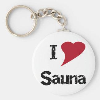 I Love Sauna Key Ring