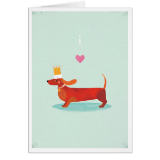 I Love Sausage Dogs Card