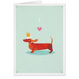 I Love Sausage Dogs Greeting Card