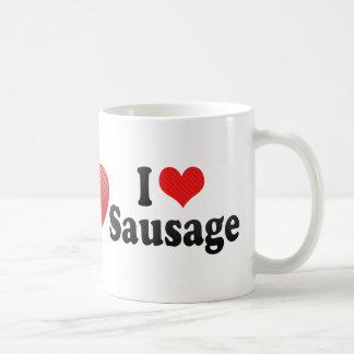 I Love Sausage Coffee Mug