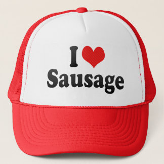 I Love Sausage Trucker Hat
