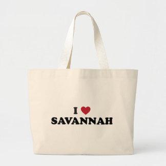 I Love Savannah Georgia Large Tote Bag