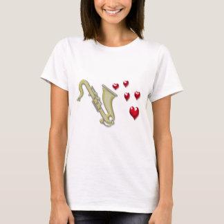 I Love Saxaphone Hearts T-Shirt