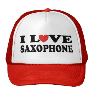 I Love Saxophone Hat