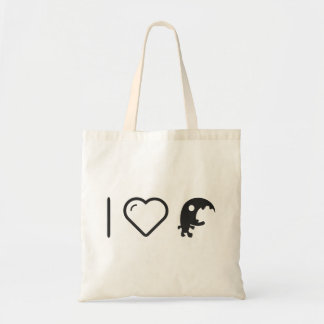 I Love Scary Monsters Budget Tote Bag
