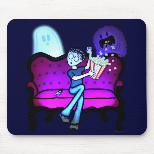 I Love Scary Movies Mousepads